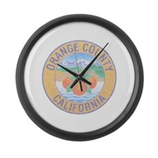 Vintage Orange County Large Wall Clock