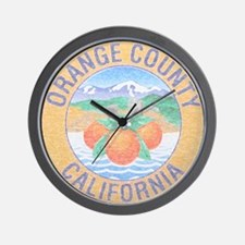 Vintage Orange County Wall Clock