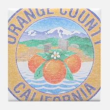 Vintage Orange County Tile Coaster