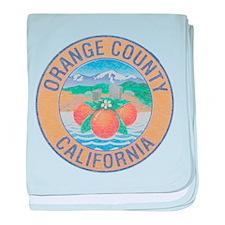 Vintage Orange County baby blanket