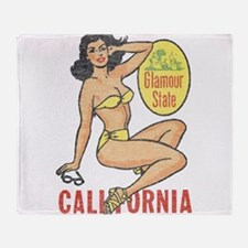 Faded Cali Pinup Throw Blanket