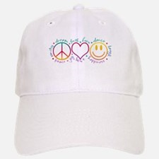 Peace Love Laugh Baseball Baseball Cap