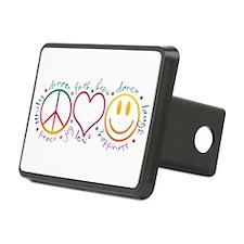 Peace Love Laugh Hitch Cover