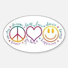 Peace Love Laugh Bumper Stickers