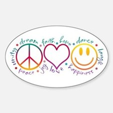 Peace Love Laugh Stickers