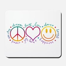 Peace Love Laugh Mousepad
