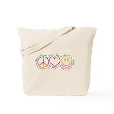 Peace Love Laugh Tote Bag
