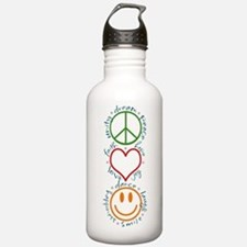 Peace Love Laugh Water Bottle