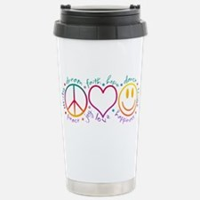 Peace Love Laugh Travel Mug