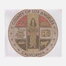 Los Angeles County Throw Blanket