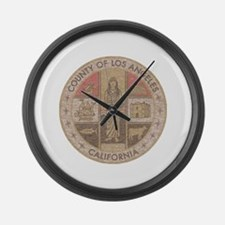 Los Angeles County Large Wall Clock