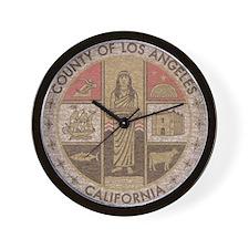 Los Angeles County Wall Clock