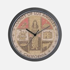 Los Angeles County Wall Clock