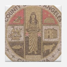 Los Angeles County Tile Coaster