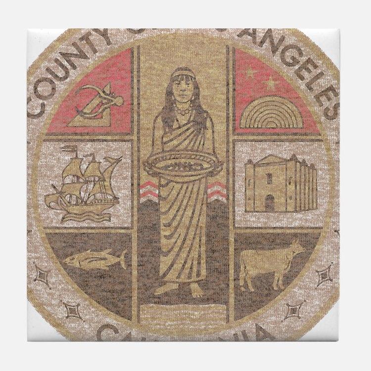 Los Angeles County Tile Coaster