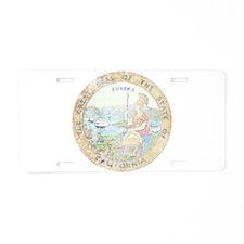 Vintage California Seal Aluminum License Plate