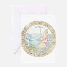Vintage California Seal Greeting Card