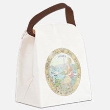 Vintage California Seal Canvas Lunch Bag
