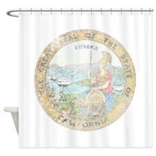 Vintage California Seal Shower Curtain