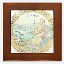 Vintage California Seal Framed Tile
