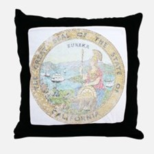 Vintage California Seal Throw Pillow
