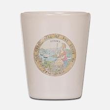 Vintage California Seal Shot Glass