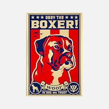 Obey the BOXER! USA Propaganda Magnet