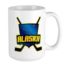 Alaska Hockey Flag Logo Mug
