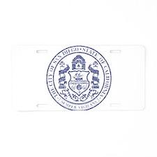 Vintage San Diego Seal Aluminum License Plate