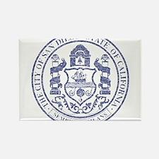 Vintage San Diego Seal Rectangle Magnet (10 pack)