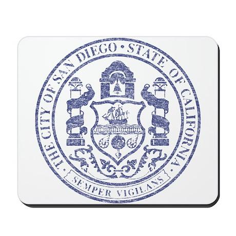 Vintage San Diego Seal Mousepad