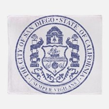 Vintage San Diego Seal Throw Blanket