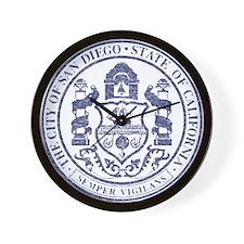 Vintage San Diego Seal Wall Clock