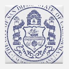 Vintage San Diego Seal Tile Coaster