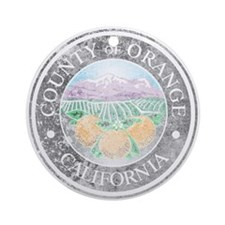 Faded Orange County Ornament (Round)
