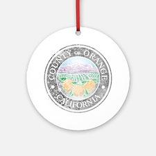 Faded Orange County Ornament (Round)