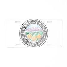 Faded Orange County Aluminum License Plate