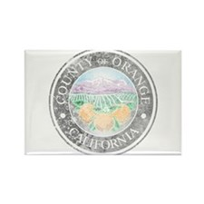 Faded Orange County Rectangle Magnet (10 pack)
