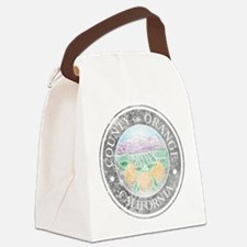 Faded Orange County Canvas Lunch Bag