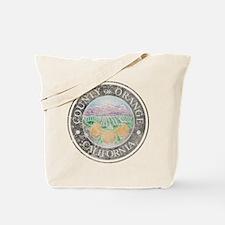 Faded Orange County Tote Bag