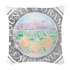 Faded Orange County Woven Throw Pillow