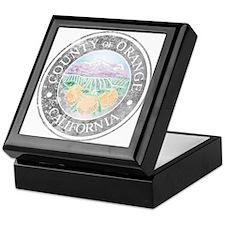 Faded Orange County Keepsake Box
