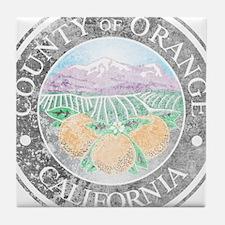 Faded Orange County Tile Coaster