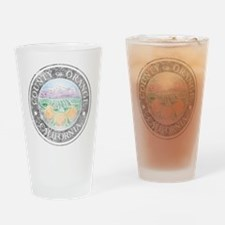 Faded Orange County Drinking Glass