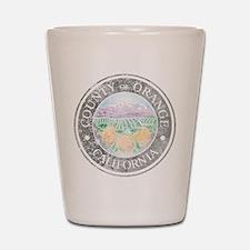 Faded Orange County Shot Glass