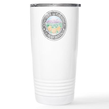 Faded Orange County Travel Mug