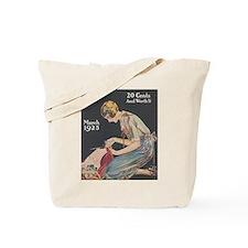 Woman, Seamstress, Vintage Poster Tote Bag