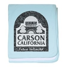 Vintage Carson California baby blanket