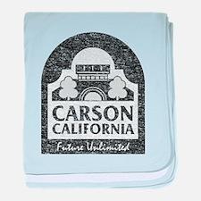 Vintage Carson California baby blanket