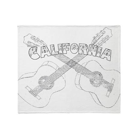 California Guitars Throw Blanket